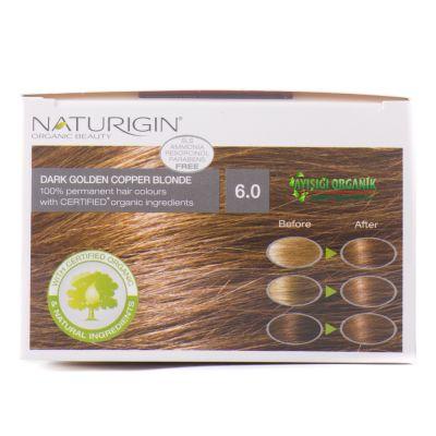 Naturigin Organik Saç Boyası Altın Sarısı 6.0