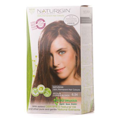 Naturigin Organik Saç Boyası Orta Bakır 6.34