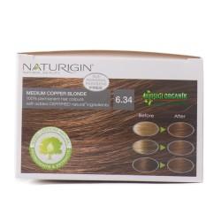 Naturigin Organik Saç Boyası Orta Bakır 6.34 - Thumbnail
