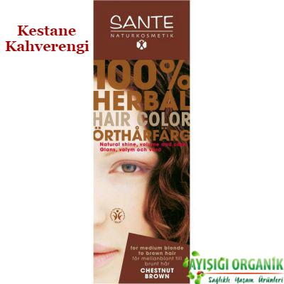 Sante - SANTE Organik Bitkisel Toz Saç Boyası (Kestane Kahverengi) 100gr