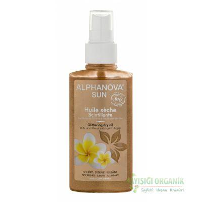 Alphanova Sun Parlak Kuru Yağ - Saç ve Vücut için