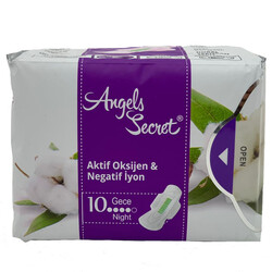 Angels Secret - Angels Secret Aktif Oksijen ve Negatif İyon Gece Pedi 1pk-10 adet