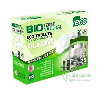 Biorant Organik Bulaşık Makinası Tableti 500gr