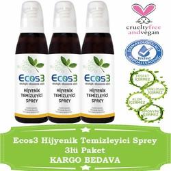 Ecos3 - Ecos3 Hijyenik Temizleyici Sprey 125MLx3 adet