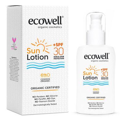 Ecowell Organik Güneş Losyonu 30 SPF 150 ml