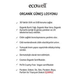 Ecowell Organik Güneş Losyonu 30 SPF 150 ml - Thumbnail