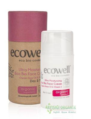 Ecowell Organik Ultra Nemlendirici Eco Bio Yüz Bakım Kremi