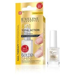 Eveline - Eveline Çok Amaçlı Tırnak Bakımı 8i1arada Total Action Altın Işıltısı 12ML