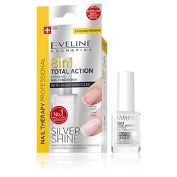 Eveline - Eveline Çok Amaçlı Tırnak Bakımı 8i1arada Total Action Gümüş Işıltısı 12ML