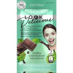 Eveline - Eveline Doğal Peeling Parçacıklı Bio Yüz Maskesi Pürüzsüzleştirici Çikolata-Mentol 10ML
