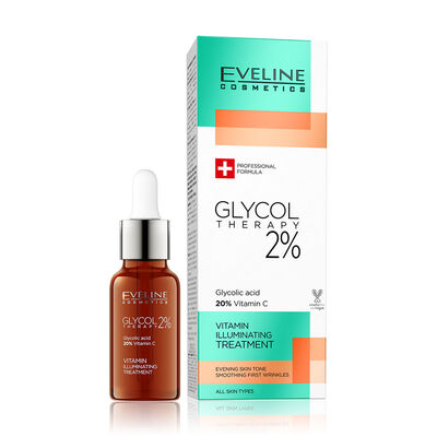 Eveline Glycol Therapy %2 Glikolik Asit ve C Vitaminli Yüz Serumu 18ML