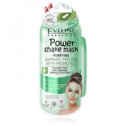 Eveline - Eveline Powershake Probiyotikli Arındırıcı Yüz Maske ve Peelingi Yağlı-Karma Ciltler 10ML