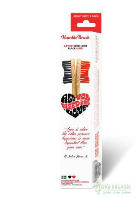 Humble Brush İkili Diş Fırçası Kırmızı - Siyah