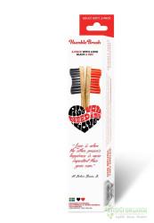 Humble Brush - Humble Brush İkili Diş Fırçası Kırmızı - Siyah