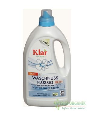 Klar Organik Çamaşır Yıkama Sıvısı Waschnuss Beyaz ve Renkli 1,5lt