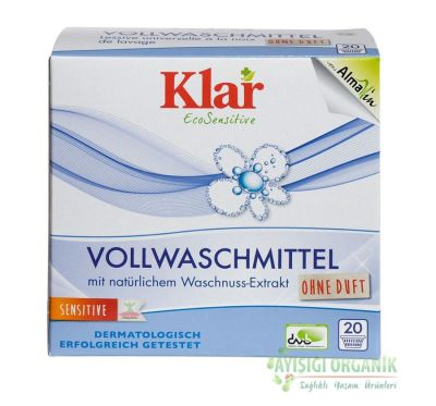 Klar Organik Çamaşır Yıkama Tozu Waschnuss (Beyaz ve Renkli) 1,1KG