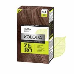 Kolora Zero - Kolora Zero Amonyaksız Krem Saç Boyası Amber Kahverengi 6.3