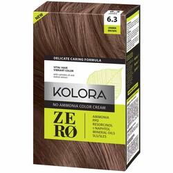 Kolora Zero Amonyaksız Krem Saç Boyası Amber Kahverengi 6.3 - Thumbnail
