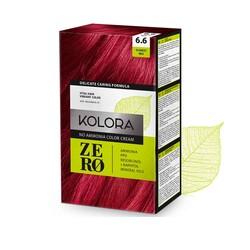 Kolora Zero - Kolora Zero Amonyaksız Krem Saç Boyası Ateş Kızılı 6.6