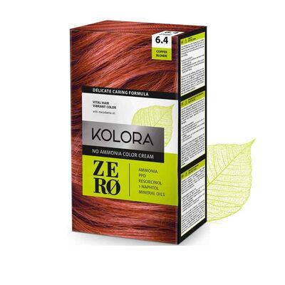Kolora Zero Amonyaksız Krem Saç Boyası Bakır Sarı 6.4