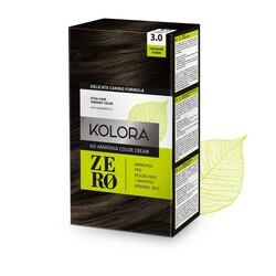 Kolora Zero - Kolora Zero Amonyaksız Krem Saç Boyası Çikolata Kahve 3.0