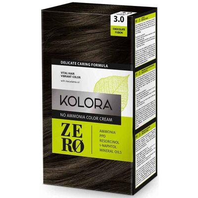 Kolora Zero Amonyaksız Krem Saç Boyası Çikolata Kahve 3.0
