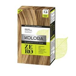 Kolora Zero - Kolora Zero Amonyaksız Krem Saç Boyası Doğal Sarı 7.0
