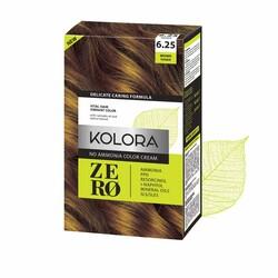 Kolora Zero - Kolora Zero Amonyaksız Krem Saç Boyası Esmer Şeker 6.25