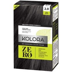 Kolora Zero Amonyaksız Krem Saç Boyası Kadife Siyah 2.0 - Thumbnail