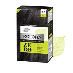 Kolora Zero - Kolora Zero Amonyaksız Krem Saç Boyası Kadife Siyah 2.0