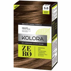 Kolora Zero Amonyaksız Krem Saç Boyası Kahverengi 5.0 - Thumbnail
