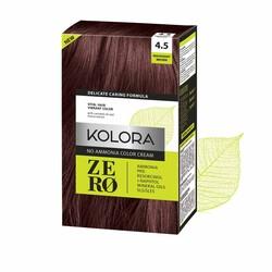 Kolora Zero - Kolora Zero Amonyaksız Krem Saç Boyası Kızıl Kahverengi 4.5