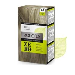 Kolora Zero - Kolora Zero Amonyaksız Krem Saç Boyası Küllü Gümüş 9.1