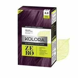 Kolora Zero - Kolora Zero Amonyaksız Krem Saç Boyası Mor Menekşe 4.9