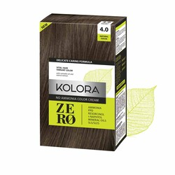 Kolora Zero - Kolora Zero Amonyaksız Krem Saç Boyası Naturel Kakao 4.0