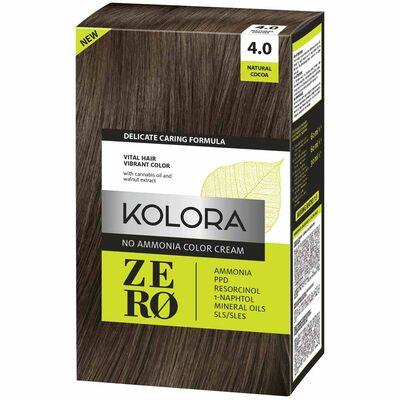 Kolora Zero Amonyaksız Krem Saç Boyası Naturel Kakao 4.0