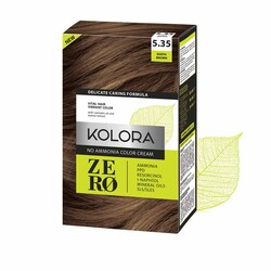 Kolora Zero - Kolora Zero Amonyaksız Krem Saç Boyası Toprak Kahverengi 5.35