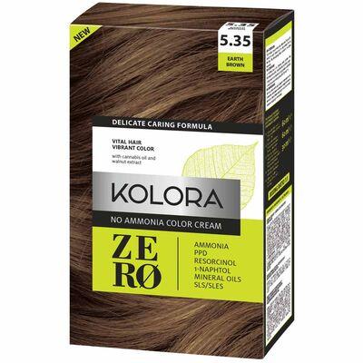 Kolora Zero Amonyaksız Krem Saç Boyası Toprak Kahverengi 5.35
