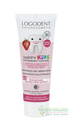 Logodent Çocuklar İçin Florürsüz Çilek Özlü Diş Macunu 50ml