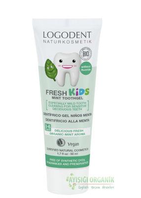 Logodent Çocuklar İçin Florürsüz Naneli Diş Macunu 50ml
