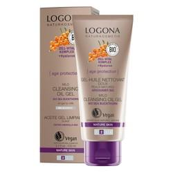 Logona - Logona Age Protection Yüz ve Makyaj Temizleyici Yağ Bazlı Jel
