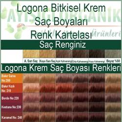 Logona Bitkisel Krem Boya Bordo No:220 - Thumbnail
