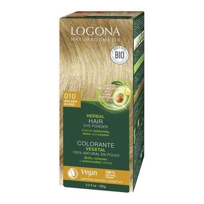Logona Bitkisel Toz Saç Boyası Altın Sarısı No: 010