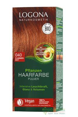 Logona Bitkisel Toz Saç Boyası Ateş Kızılı 040