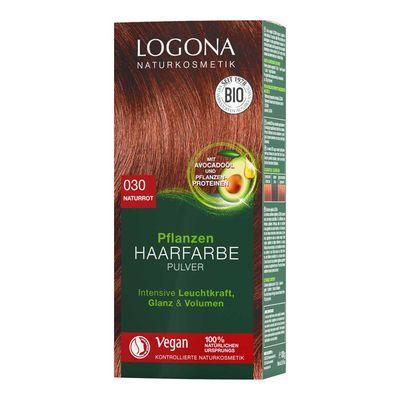 Logona Bitkisel Toz Saç Boyası Doğal Kızıl No:030