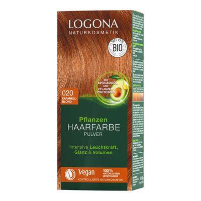 Logona Bitkisel Toz Saç Boyası Karamel Sarı No:020