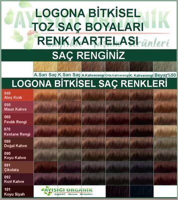 Logona Bitkisel Toz Saç Boyası Kızıl Kahve No: 092
