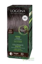 Logona - Logona Bitkisel Toz Saç Boyası Koyu Siyah No: 101