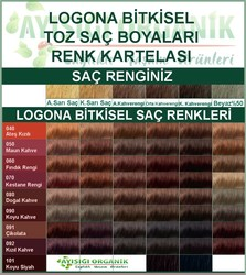 Logona Bitkisel Toz Saç Boyası Maun Kahve No: 050 - Thumbnail