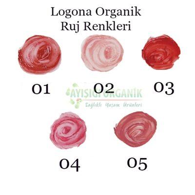 Logona Organik Ruj 03 Çilek Strawberry